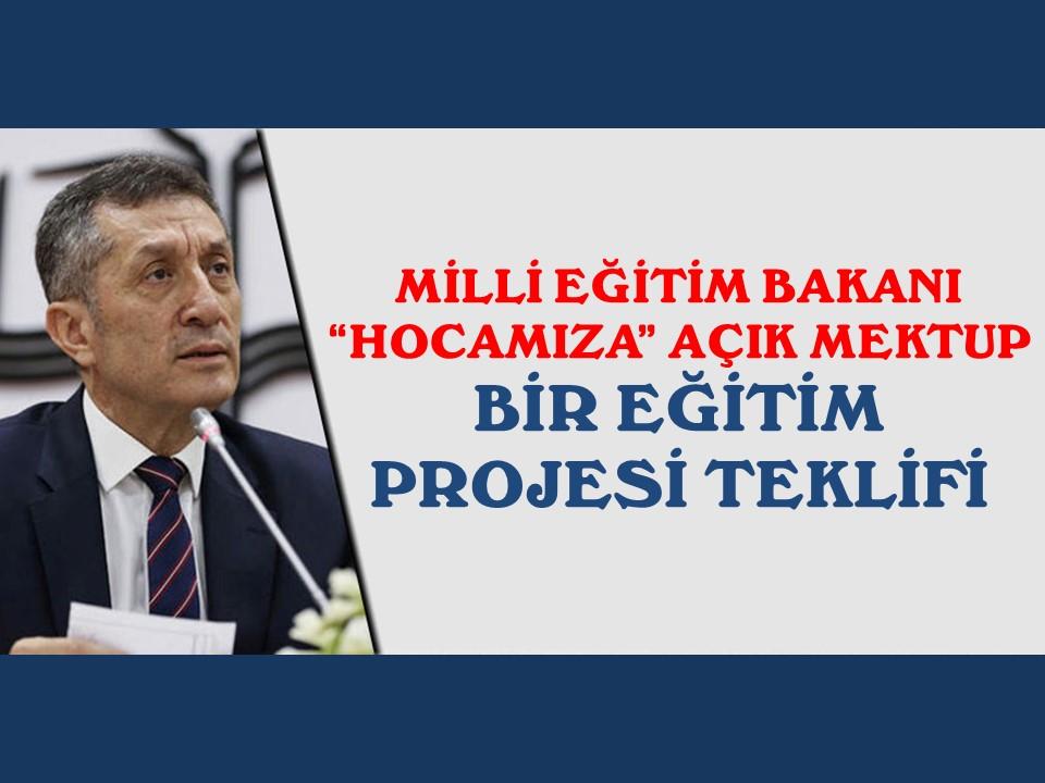 Milli Eğitim Bakanı Makamına Bir Eğitim Projesi Teklifi-BÜYÜK